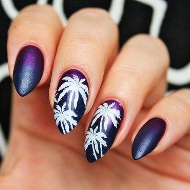 Palms nail art by Jane