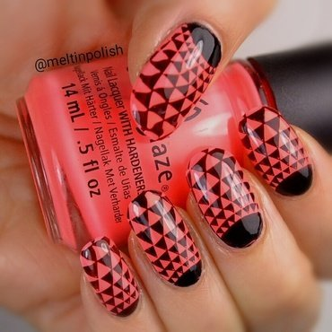 half-MOON & SUN-glasses nail art by Meltin'polish