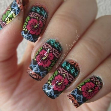 tropical nail nail art by Marianna Kovács