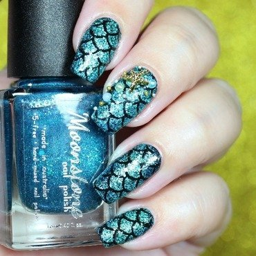 Mermaid  nail art by Blackqueennailsdesign