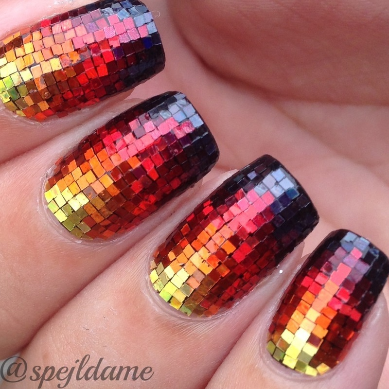 Sparkly Fire Nail Art By Sparkly Nails By Spejldame Nailpolis