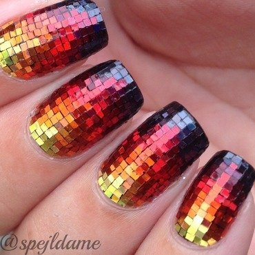Sparkly Fire nail art by Sparkly Nails by Spejldame