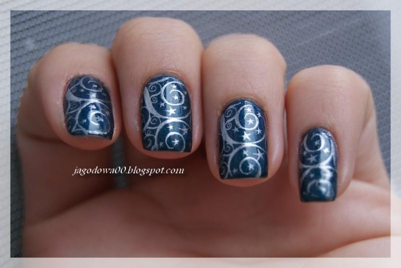 Gwiazdki nail art by Jadwiga