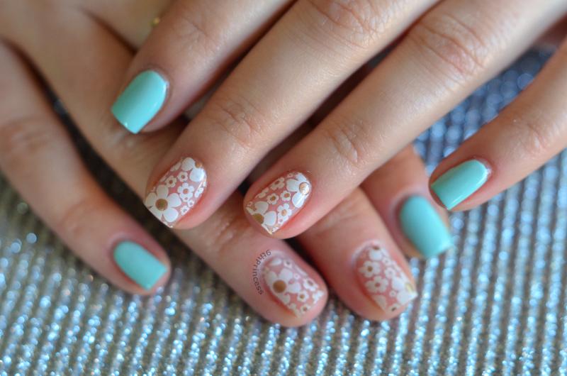 Blossom Dandy nail art by 9th Princess