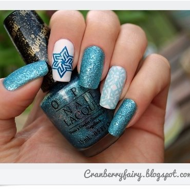OPI Tiffany Case nail art by Cranberry Fairy