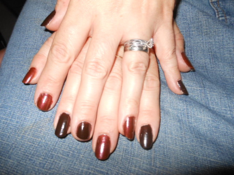 Nicole by OPI Promises in the Dark and Nicole by OPI Better After Dark Swatch by Cecilia Brown