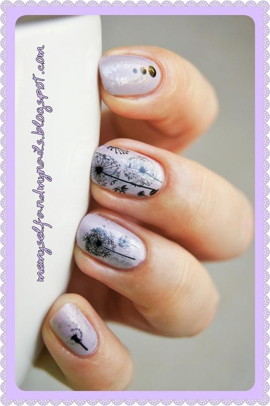 Dandelions nail art by ELIZA OK-W