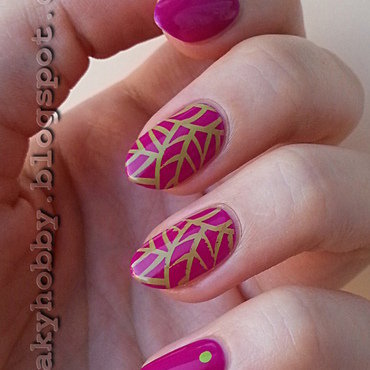 Another stamping manicure! nail art by Mgielka M