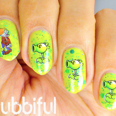 Zombie Nails nail art by Cubbiful