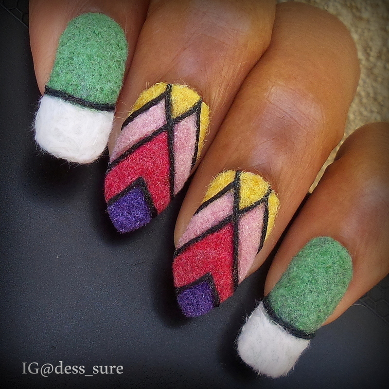 Flocking Colors nail art by Dess_sure