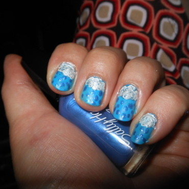 Summer Showers nail art by Cecilia Brown