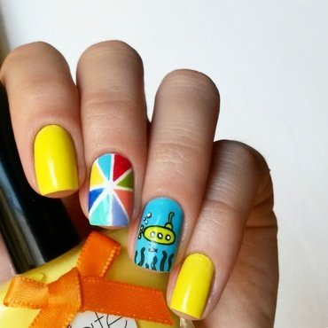 We all live in a... nail art by marina