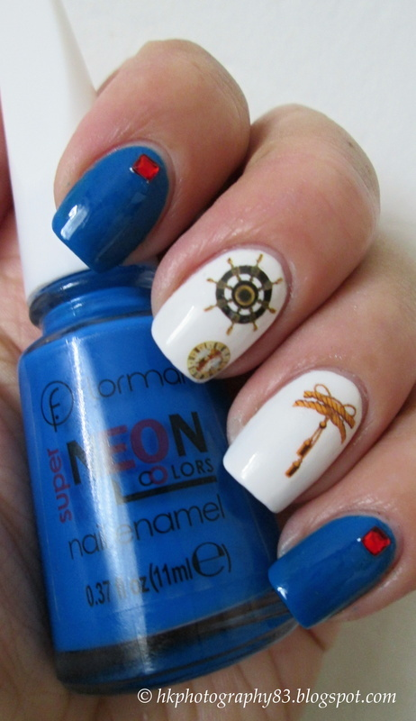 Rudder Clock Nails nail art by Hana K.