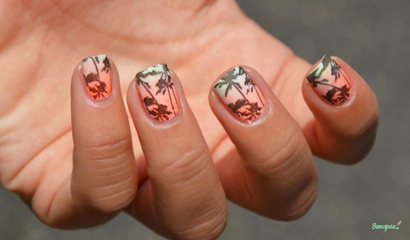 L.A - Los Angeles nail art by Sweapee - Nailpolis: Museum of Nail Art
