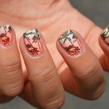 L.A - Los Angeles nail art by Sweapee