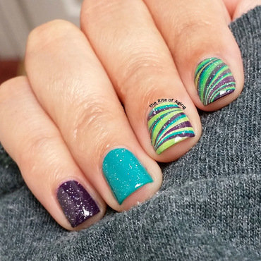 A Very Barry M Watermarble nail art by Monica