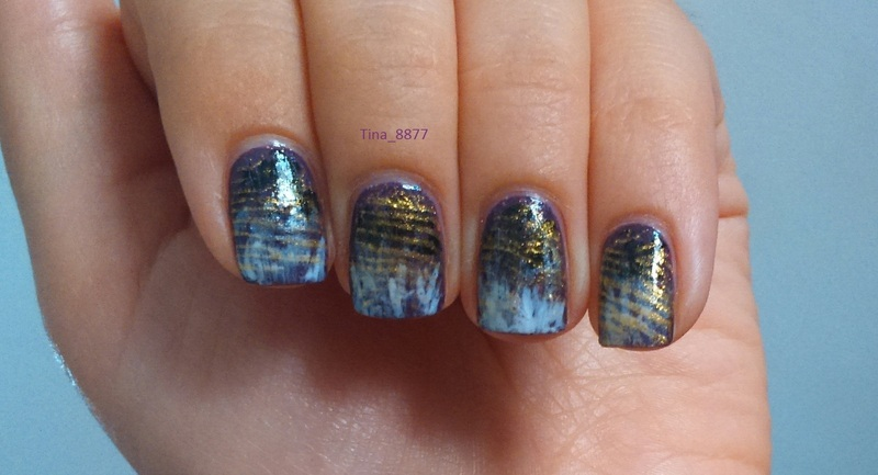 Stainy Gradient With Gold Accent Nail Art By Tina 8877 Nailpolis