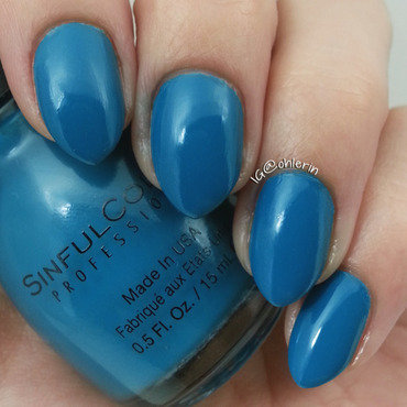 Sinful Colors Ocean Side Swatch by Lindsay