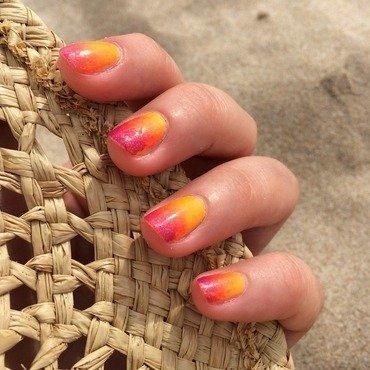 Sunny beach ombre nail art by Vomterchak