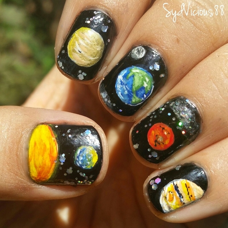 Space nail art by SydVicious