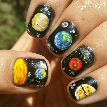 Space nail art by SydVicious