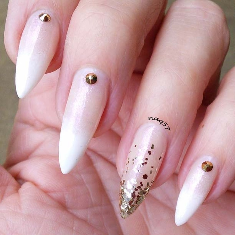 Faded French nail art by Nora (naq57) - Nailpolis: Museum of Nail Art