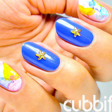 Watercolour Nails nail art by Cubbiful