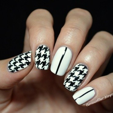 Sweet (hounds)tooth nail art by Furious Filer