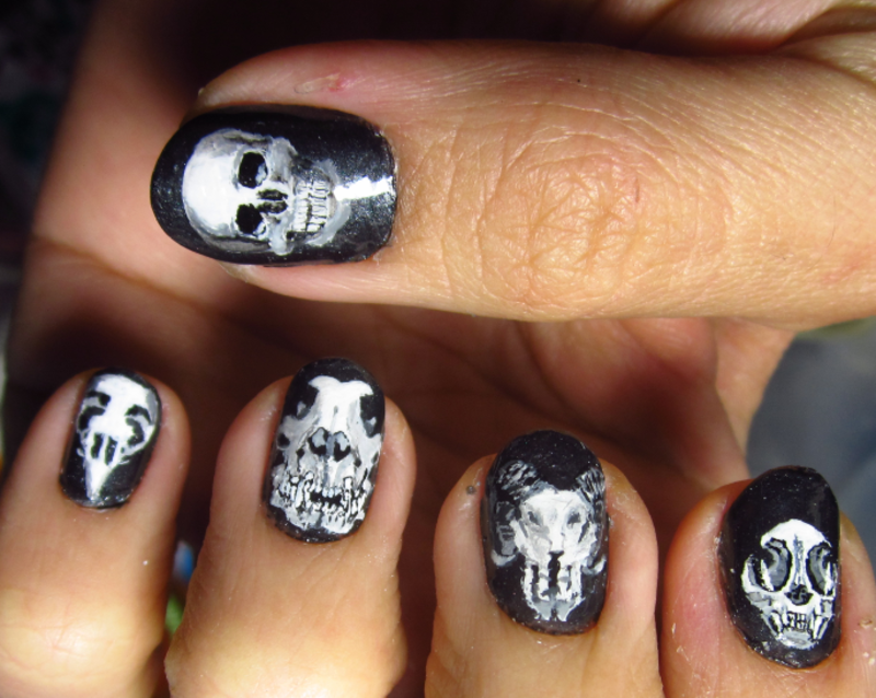 Skull Nail Art Nail Art By Rainwound Nailpolis Museum Of Nail Art