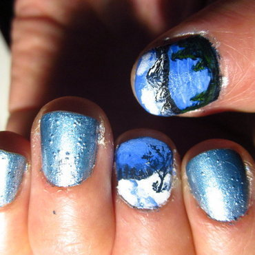 Winter Landscapes nail art by Rainwound