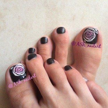Velvet roses nail art by Anna Sh