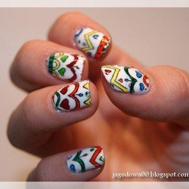Colorful stamping / kolorowe stemple nail art by Jadwiga