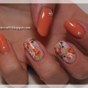 Roses nail decals nail art by Jadwiga