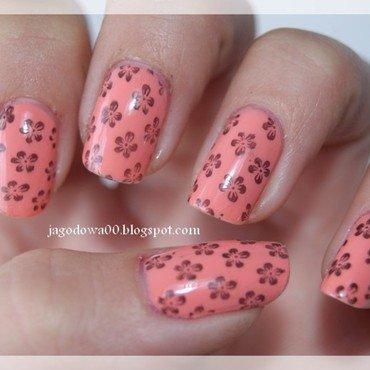 Little flowers nail art by Jadwiga