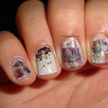 Fall Dry brush nail art by Jessica