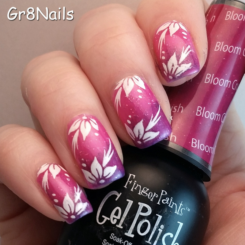bloom crush nail art by Gr8Nails