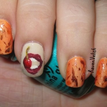 Seven Deadly Sins: Gluttony nail art by Lynni V.