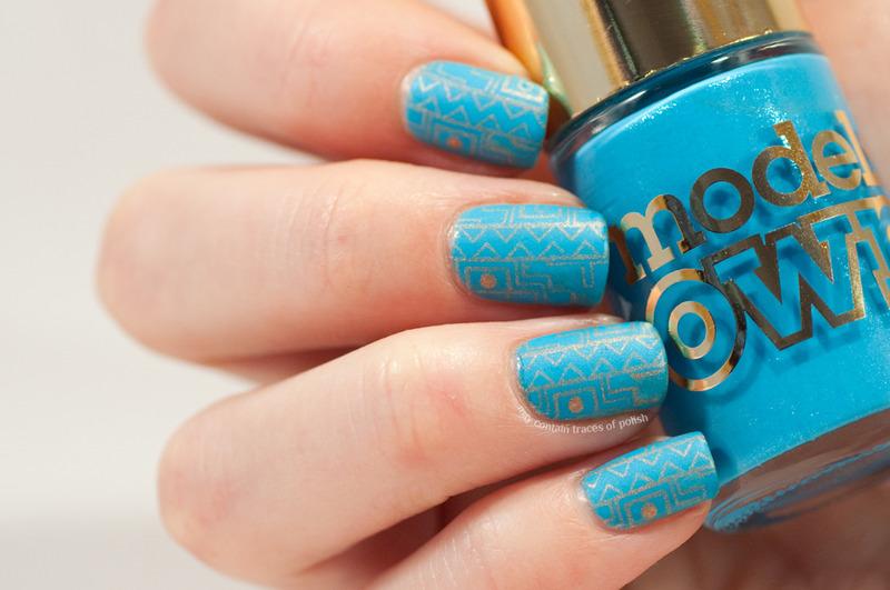 Discreet stamping  nail art by Zara TracesOfPolish