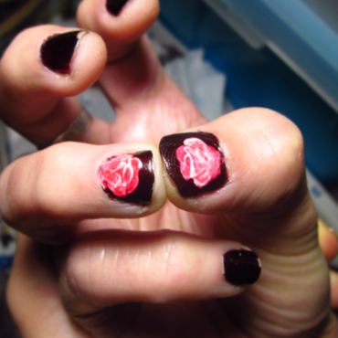 Rose Nail Art nail art by Rainwound