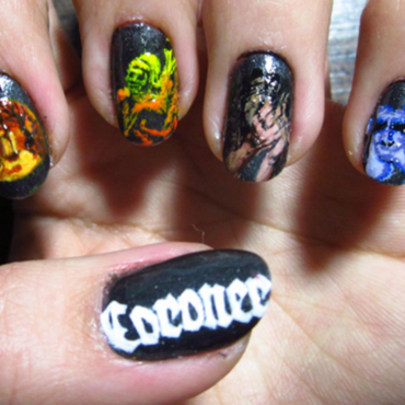 Thrash Metal Nail Art: Coroner nail art by Rainwound