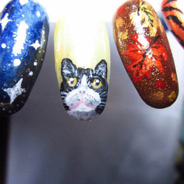 A WILD CAT APPEARS! nail art by Rainwound