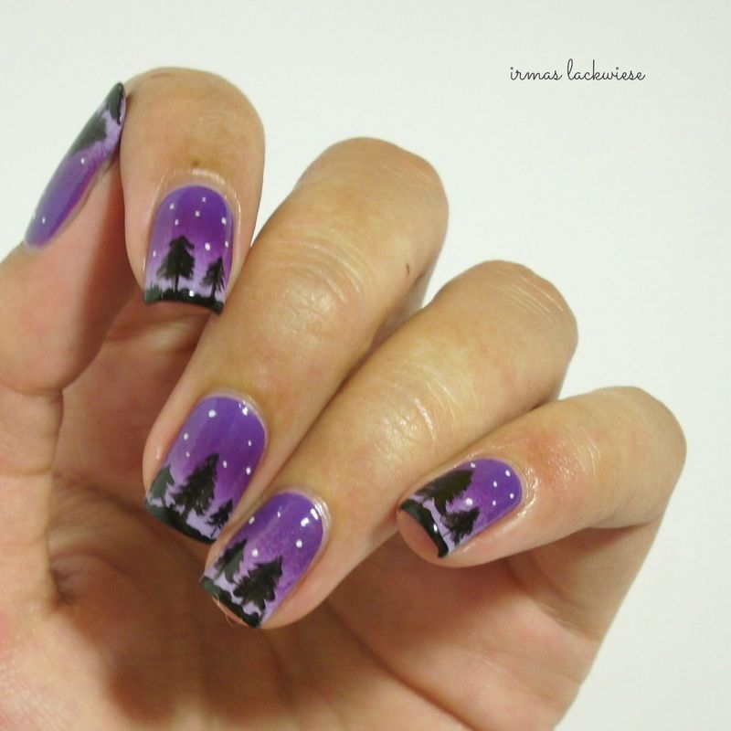 night forest nail art by irma