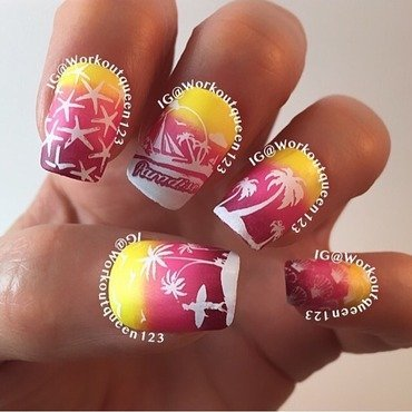 Beach Towels apart 2 mani nail art by Workoutqueen123