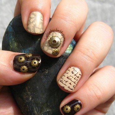 Matching Manicures - Steampunk nail art by Vedrana Brankovic