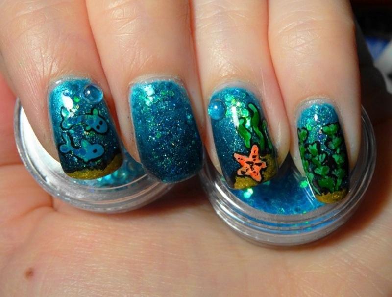 Aquarium nail art by Lumi