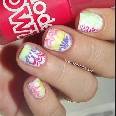 Neon stamping nail art by Mycrazydesigns