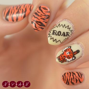 Roaring Nails nail art by Becca (nyanails)