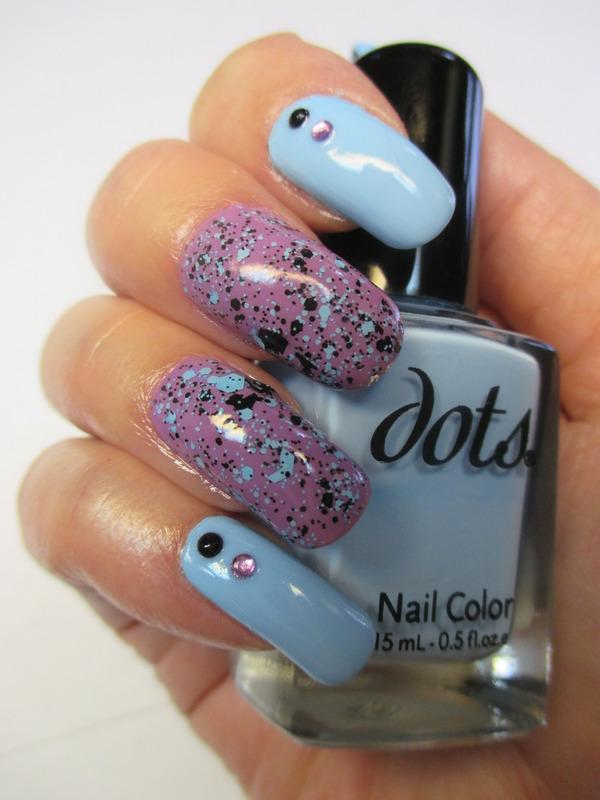 Splattered Glitter nail art by NinaB