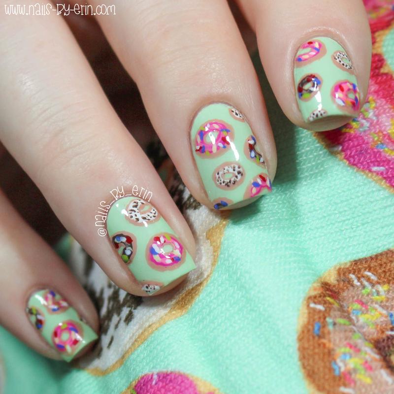 Donut Nails nail art by Erin