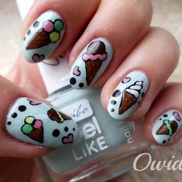 Ice creams. nail art by Owidia